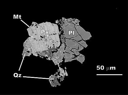 dibujo20090408_basaltic_micrometeorite_pyroxene_plagioclase_quartz_mm40
