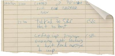 Dibujo20091028_L_KLEINROCK_ARPANET_logbook_page_recording_first_computer-to-computer_transmission