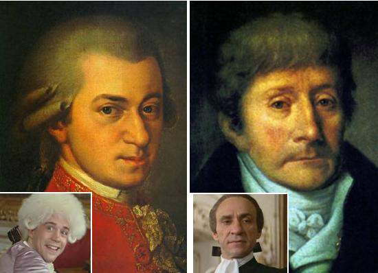 mozart and salieri amadeus versus Actor tom hulce portrays mozart in amadeus conducting his  it was no secret  that mozart and salieri were professional rivals, but the idea of.