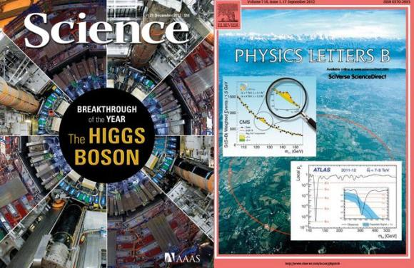 Dibujo20121220 covers Science - Physics Letters - Higgs boson