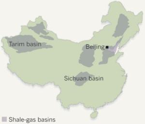 Dibujo20130220 shale-gas basins in China