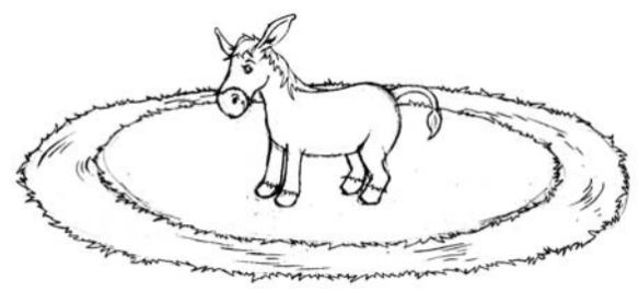 Dibujo20130410 buridan mule - drinking