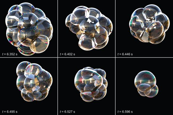 Dibujo20130510 simulation of the evolution of a cluster of bubbles