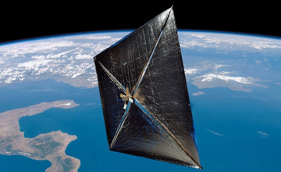 Dibujo20130703 artist concept solar sail earth orbit
