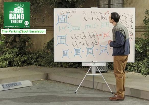 Dibujo20130831 the big bang theory - parking spot escalation - s cooper