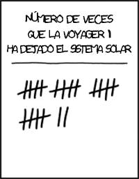 Dibujo20130912 Voyager 1 - solar system - XKCD