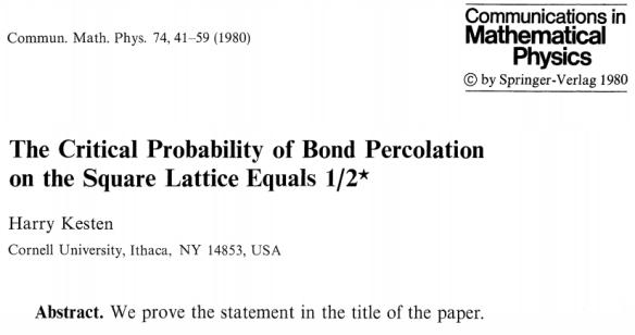 Dibujo20130925 kesten - paper - short abstract - commun math phys 1980