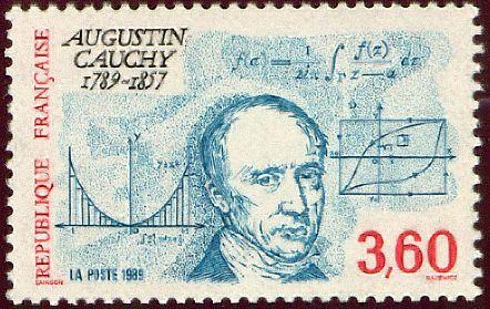 Dibujo20131021 augustin cauchy - stamp - republique francaise